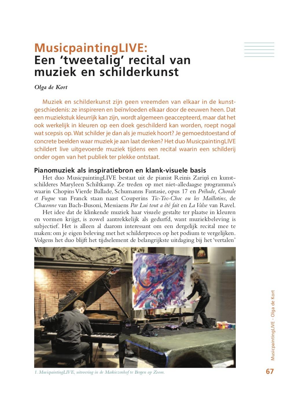 Maryleen Schiltkamp   Music Painter